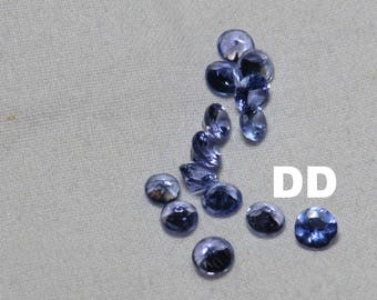 Top Quality Tanzanite faceted round AAA quality calibrated size loose gemstone wholesale 100% Natural Stone Tanzanite 3mm round