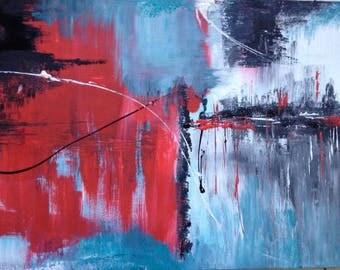 abstraktes Acrylbild, abstrakte Kunst, abstraktes Bild, abstract painting, large painting, modern art, wall art, modernes Bild