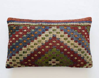 "Kilim rug pillow cover 16""x26"" (40x65cm) 005"