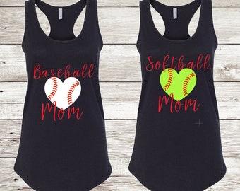 Baseball/softball Mom tank top | baseball mom | softball Mom | sports mom | tank top | racer back tank top | softball tank | baseball tank