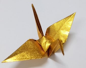 Large Gold Origami Cranes ** 1000pcs