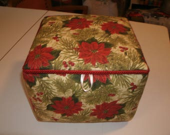 Poinsettia fabric box