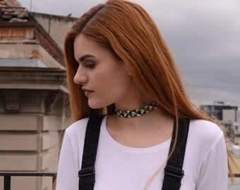 Rovčanin #4 - Handemade cotton necklace, ručno pletena pamučna ogrlica