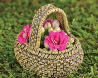 Fairy Garden Dollhouse Miniature Market Basket