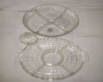 Dish to hors d'oeuvres in glass of the early 1900s