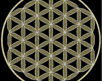 Flower Of Life Embroidery Design