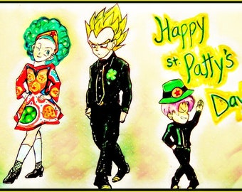 Vegeta, Bulma and Trunks Irish dancing
