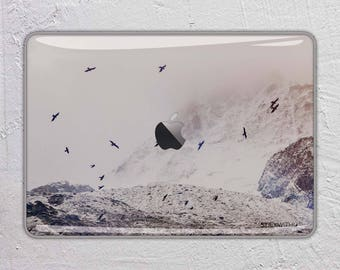 nature landscape photography snow mountain fog bird MacBook Decal  Macbook Skin Apple MacBook Air Pro or Pro with Retina FSM311