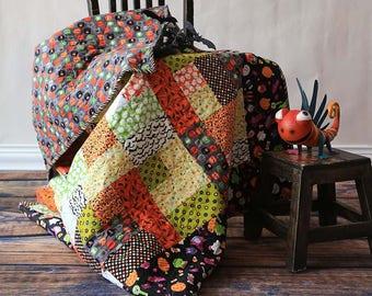 "Festive cotton quilt ""Halloween"""