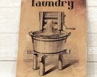 VINTAGE LAUNDRY ROOM Sign