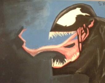 Handpainted Venom Painting