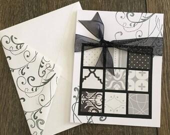Elegant Handmade Paper Greeting Card