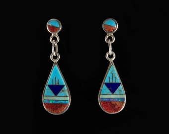 Sterling Silver Zuni Earrings