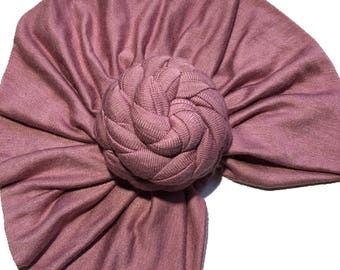 Rose knot turban hat