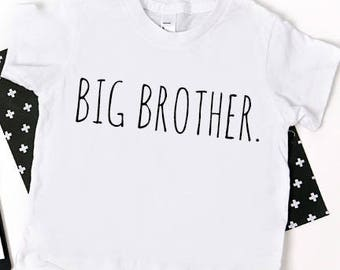 Big Brother Shirt; simple big brother shirt; new baby announcement; pregnancy announcement; family shirts; big brother tshirt; big brother