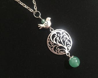 Bird on The Tree  Necklace