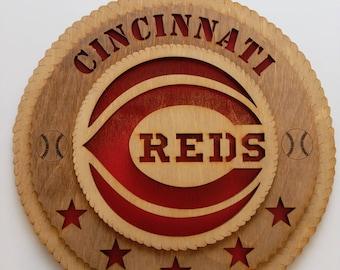 Cincinnati Reds wood sign
