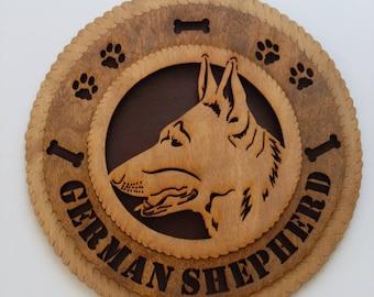 German Shepherd Dog wood sign