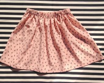 Pink flamingos Elena skirt grey