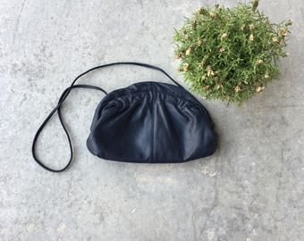 Vintage Leather 1980's Crossbody Purse
