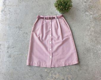 Belted Vintage 1950's Pocket Skirt
