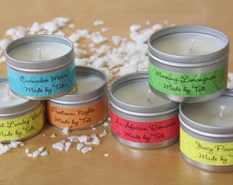 Tropical Hand-Poured Soy Candles