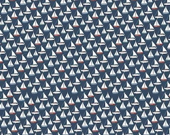 Riley Blake 'By the Sea' Sailing Boat fabric