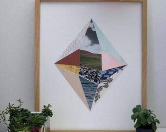 Geometric Collage Original Diamond