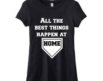 Baseball Tee - FREE SHIPPING - All The Best Things Happen At Home