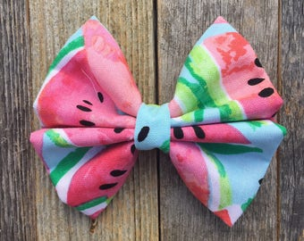 Blue|Pink Watermelon Bow