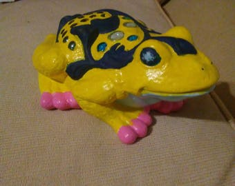 Hand painted ceramic frog