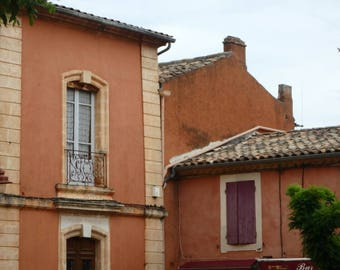 Roussillon Town French Building Photo Print