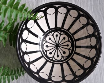 Black and White Patterned Bowl - Lola