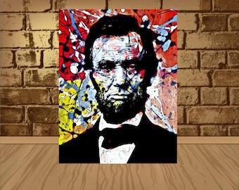 Abraham Lincoln Poster, Abraham Lincoln Print,wall decor, Abraham Lincoln Art Print, Abraham Lincoln Decor, Home Decor, Gift Idea