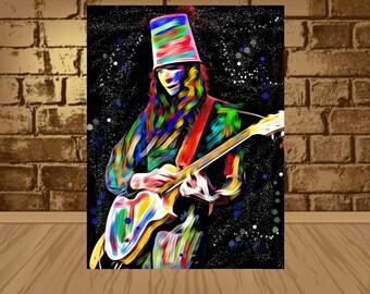 Buckethead poster,Buckethead print,Buckethead art,Buckethead,Instrumental Rock,home decor,wall art,rock art,rock poster,rock print,Guitarist