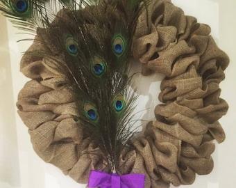 "Burlap wreath. 20"" burlap wreath"