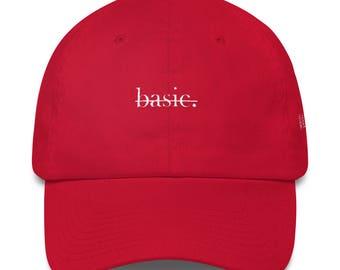 Not Basic Minimal Red Dad Hat