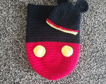 Mickey mouse cocoon and hat