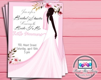 BRIDAL SHOWER digital INVITE,Printable Bridal party invitation,personalized party printable,Bridal party digital download,downloadable print