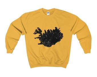 Sweatshirt - Iceland Map