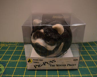 Pigs in Cosplay The Winter Piglet customised Piggy Bank (Money box)  inspired by The Winter Soldier