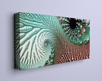 Swirly fresh blue art - large canvas, large modern decor, abstract art, large abstract art, wall decor, large wall hanging