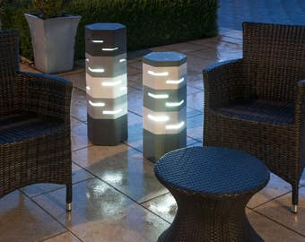 Holix IV Contemporary outdoor lights for gardens, courtyards, patios and conservatories