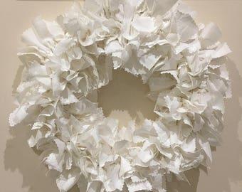 Beautiful Rag Wreaths handmade
