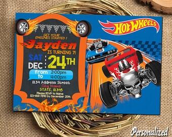 Hot Wheels Invitation Hot Wheels Birthday Hot Wheels Birthday Invitations Hot Wheels Party Hot Wheels Printable Hot Wheels Invitations