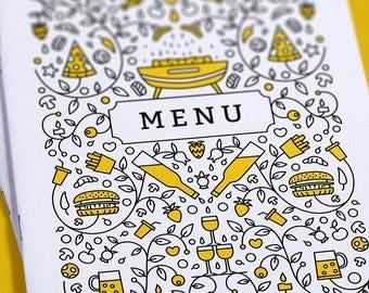 Menu for premium restaurants