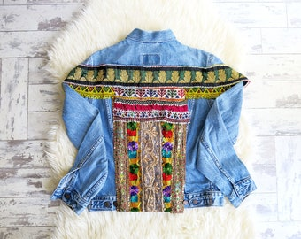 Vintage embellished Levis denim jacket