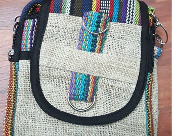 Hemp Over Shoulder Bag - Cross Body Bag - 100% Hemp
