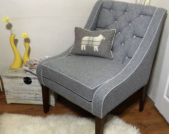 Occasional/bedroom chair 100% lambs wool