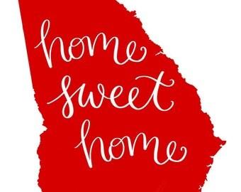 Home Sweet Home GA Print